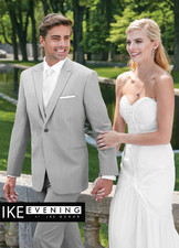 Ike Behar Evening: Light Grey Grenada Suit