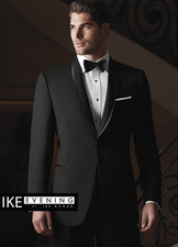 Ike Behar Evening: Black Waverly Tuxedo