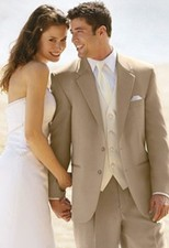 After Six Tan Catalina Suit - Destination Weddings