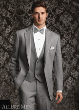 Allure Men: Heather Grey 'Bartlett' Tuxedo
