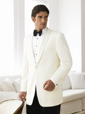 Geoffrey Beene 1 Button Classic Ivory Tuxedo