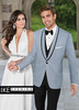 Ike Behar Evening: Powder Blue Valencia Tuxedo