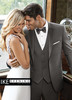 Ike Behar Evening: Sharkskin Grey Grayson Tuxedo
