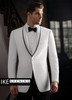 Ike Behar Evening: White Waverly Tuxedo