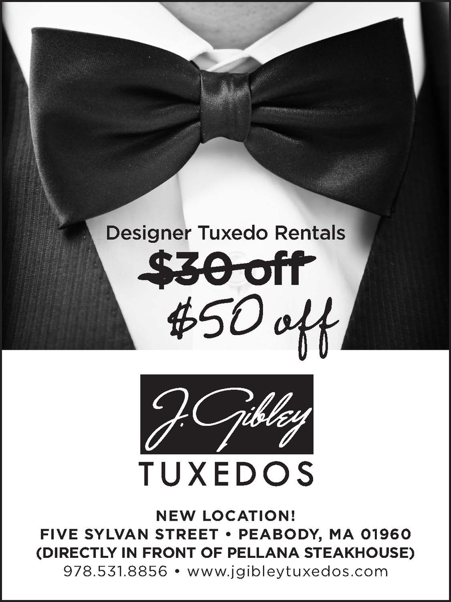 J Gibley Tuxedos - Designer Tuxedo Specials near Boston, MA