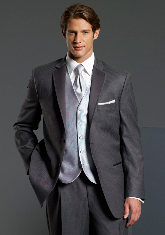 Perry Ellis Madison Gray Tuxedo | J Gibley Tuxedos - Peabody, MA